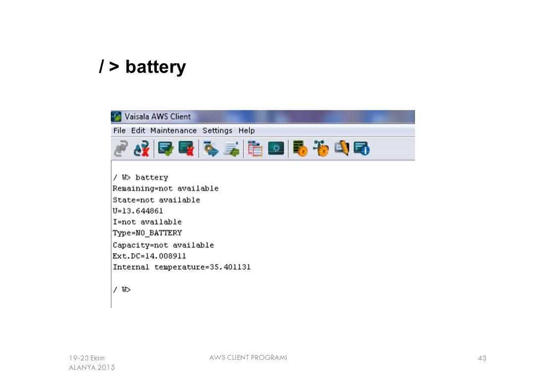 / > battery 19-23 Ekim ALANYA 2015 AWS CLIENT PROGRAMI