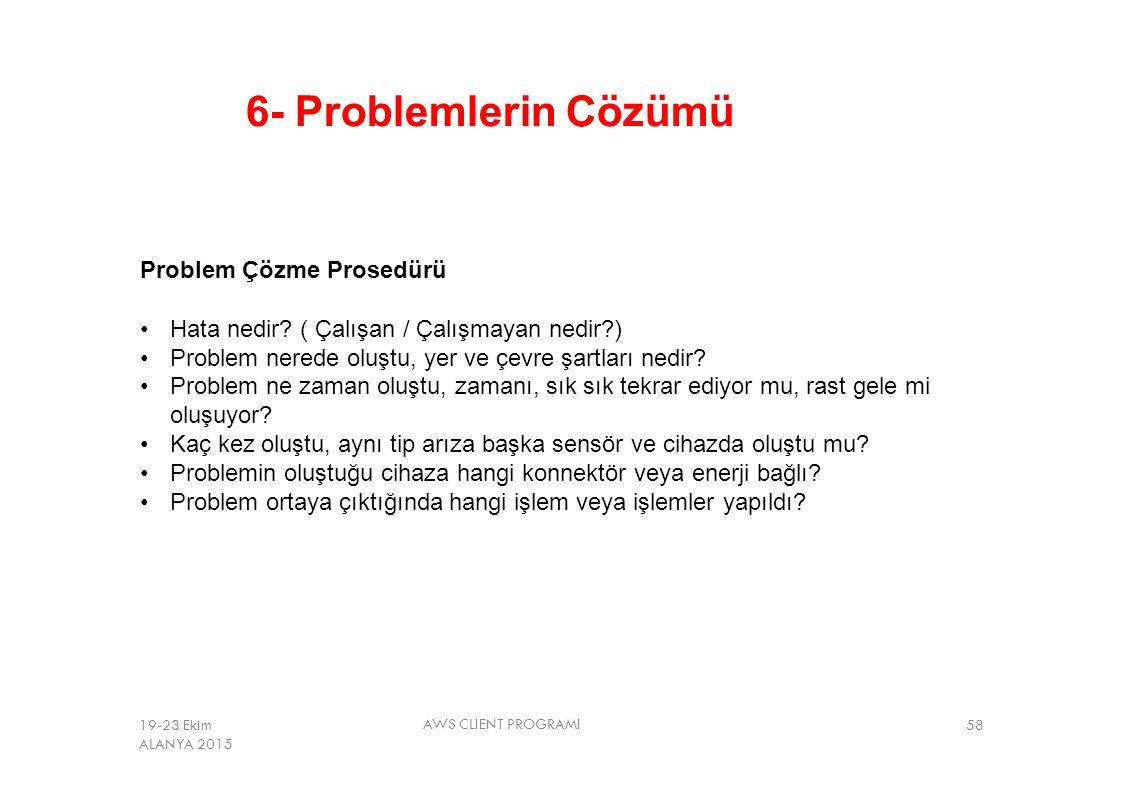 6- Problemlerin Çözümü Problem Çözme Prosedürü