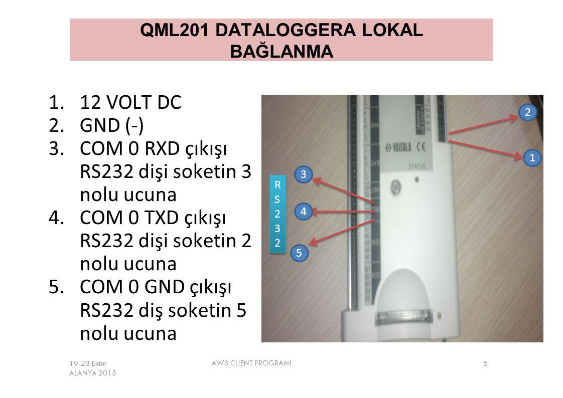 QML201 DATALOGGERA LOKAL BAĞLANMA