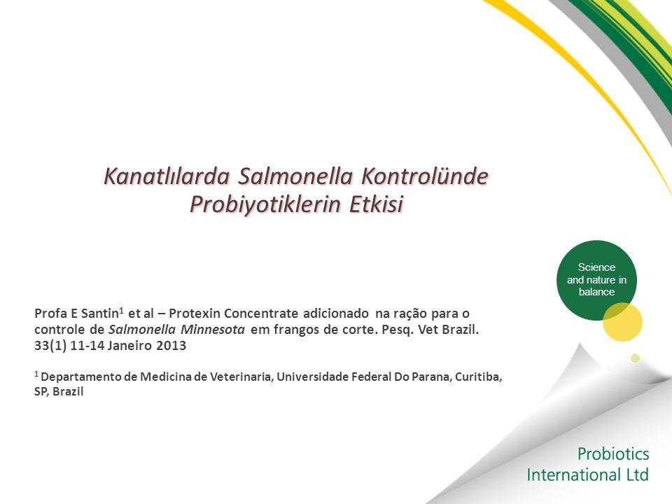 Kanatlılarda Salmonella Kontrolünde Probiyotiklerin Etkisi