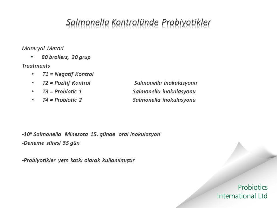 Salmonella Kontrolünde Probiyotikler