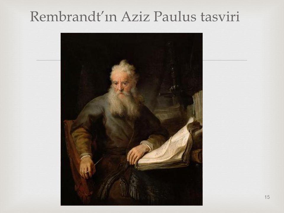 Rembrandt'ın Aziz Paulus tasviri