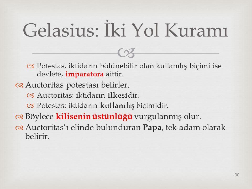 Gelasius: İki Yol Kuramı