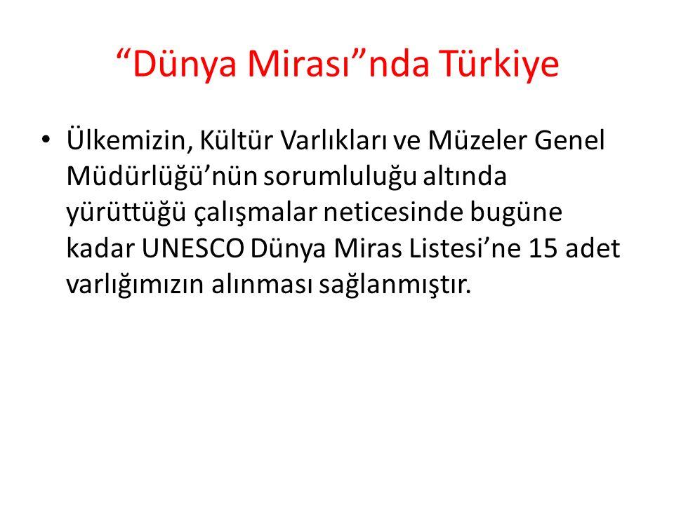 Dünya Mirası nda Türkiye