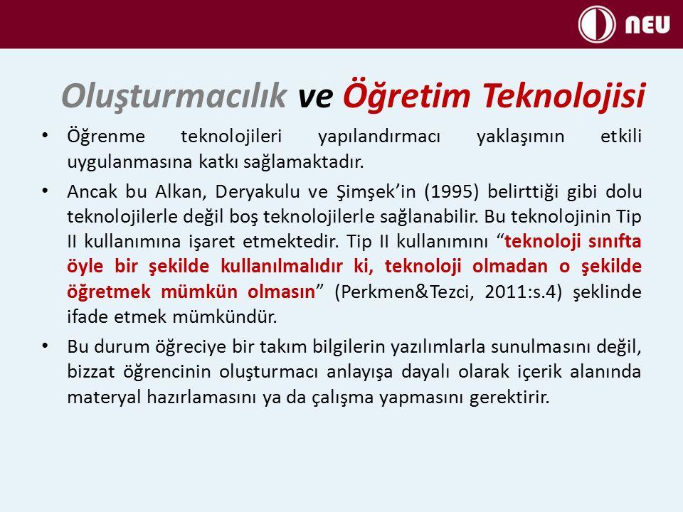 Oluşturmacılık ve Öğretim Teknolojisi