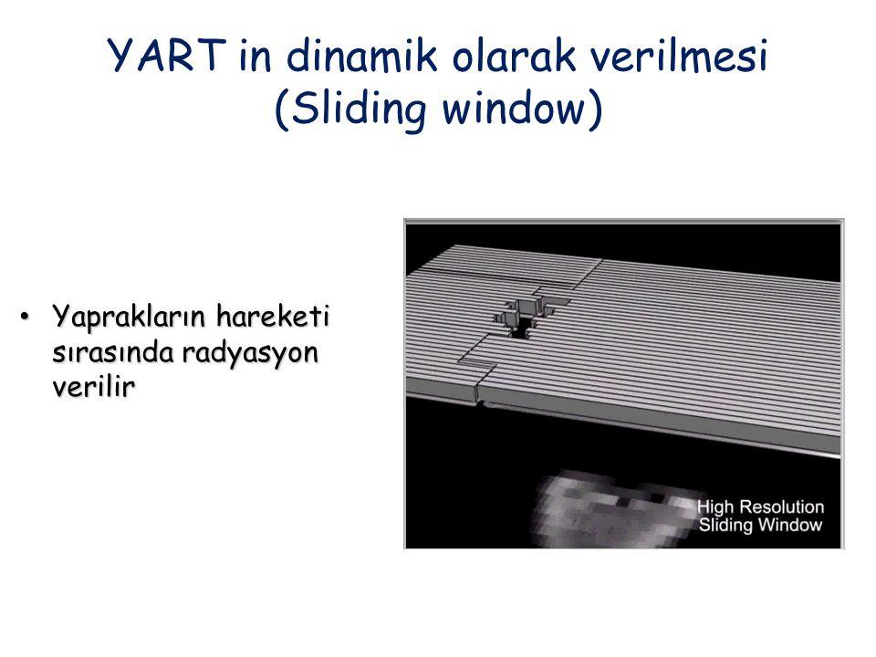 YART in dinamik olarak verilmesi (Sliding window)