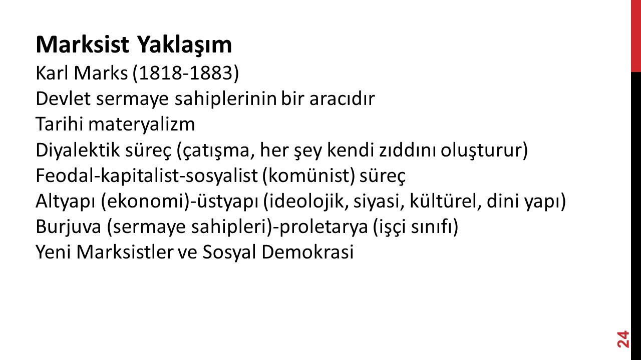 Marksist Yaklaşım Karl Marks (1818-1883)
