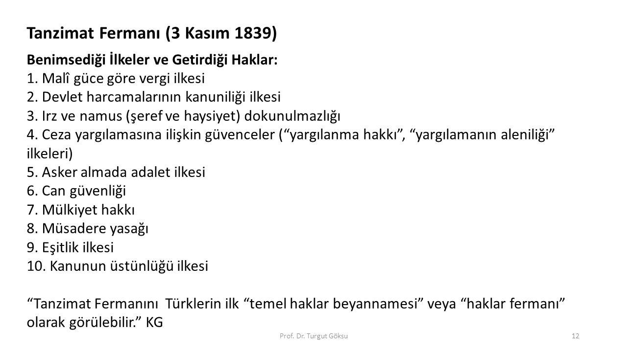 Tanzimat Fermanı (3 Kasım 1839)