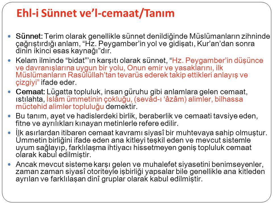 Ehl-i Sünnet ve'l-cemaat/Tanım