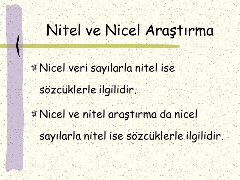 Nitel ve Nicel Araştırma