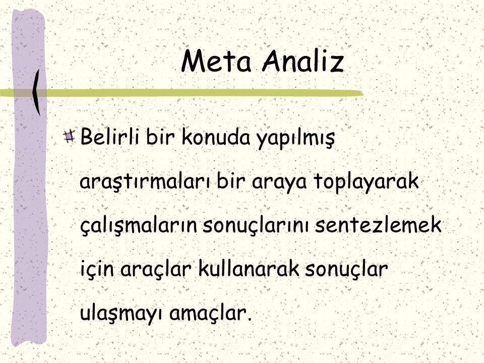 Meta Analiz