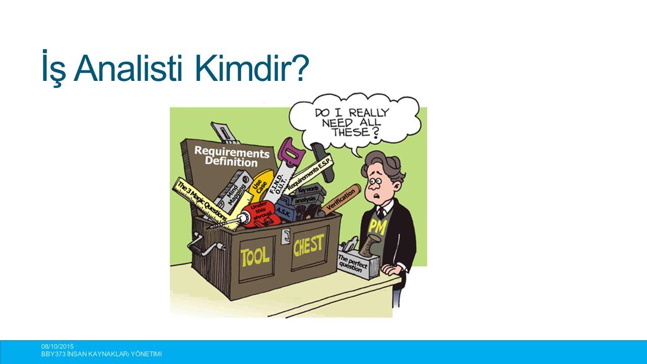 İş Analisti Kimdir 08/10/2015 BBY373 İnsan Kaynakları Yönetimi