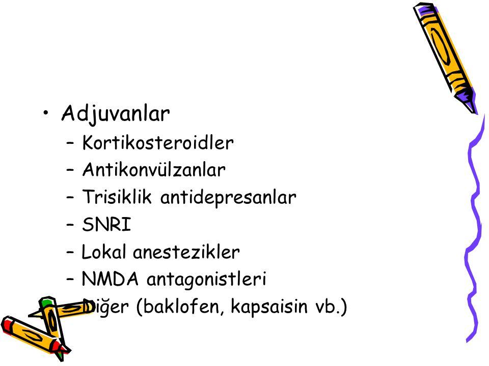 Adjuvanlar Kortikosteroidler Antikonvülzanlar