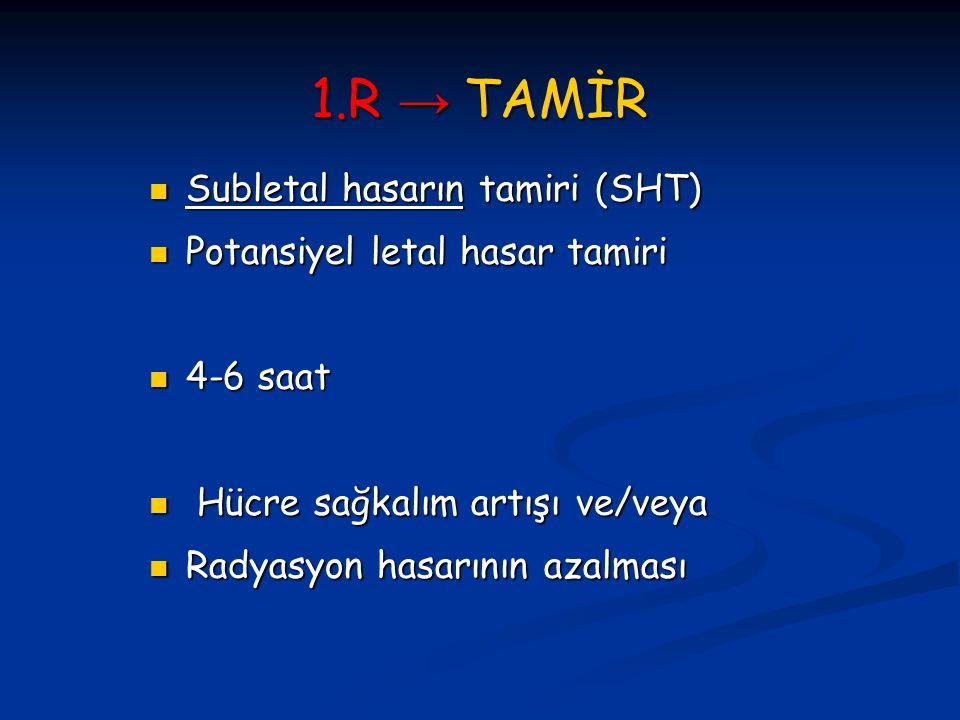 1.R → TAMİR Subletal hasarın tamiri (SHT)