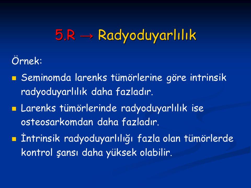 5.R → Radyoduyarlılık Örnek: