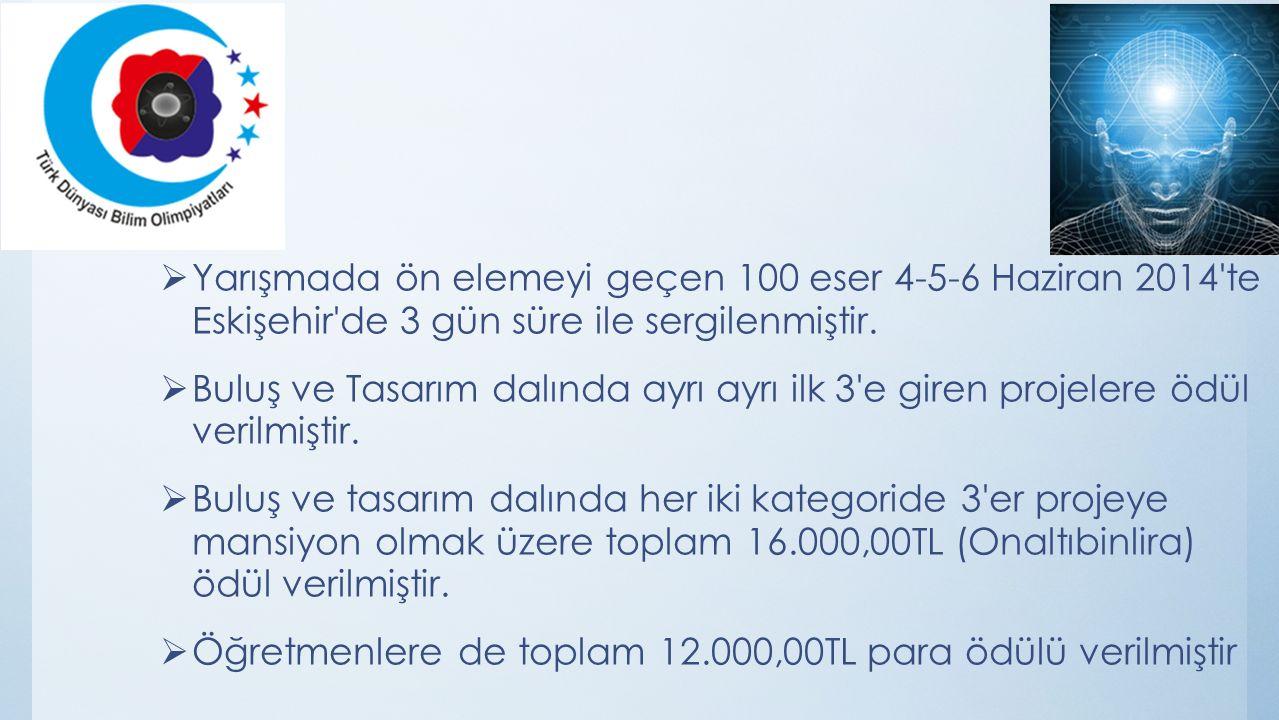 Öğretmenlere de toplam 12.000,00TL para ödülü verilmiştir