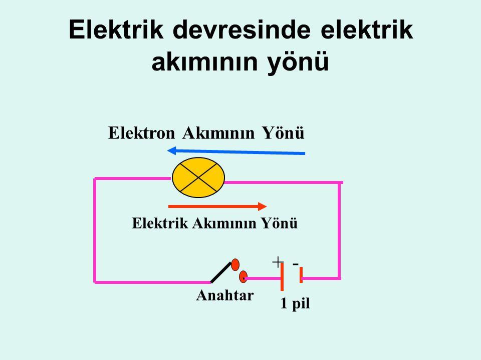 Elektrik devresinde elektrik akımının yönü