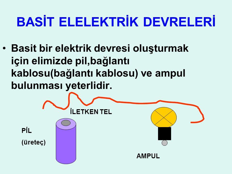 BASİT ELELEKTRİK DEVRELERİ