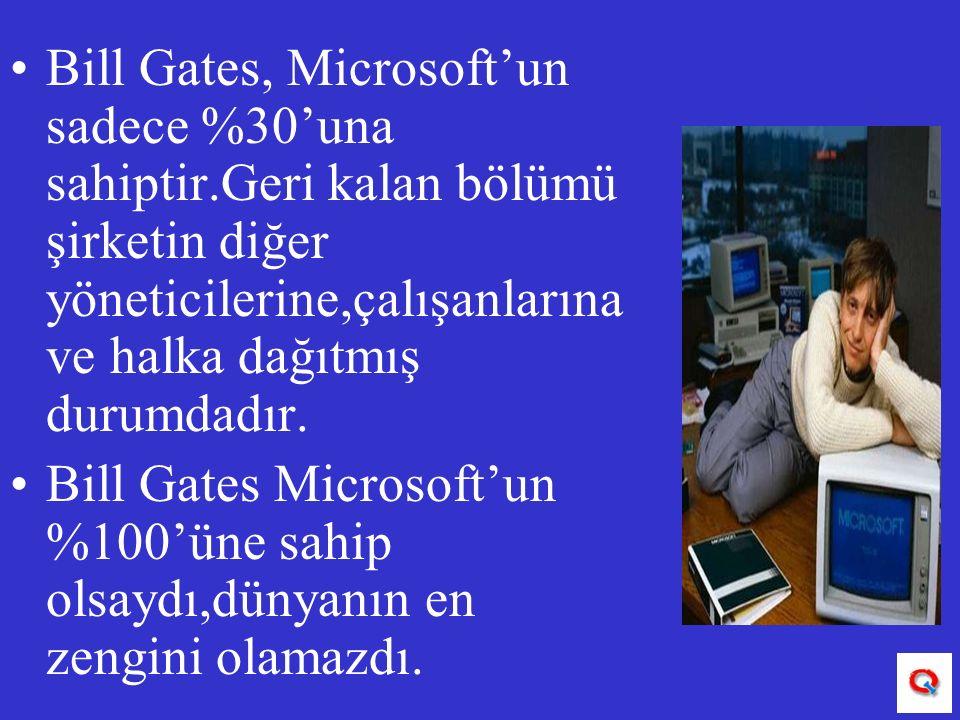 Bill Gates, Microsoft'un sadece %30'una sahiptir