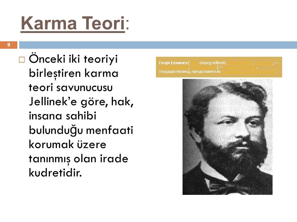 Karma Teori: