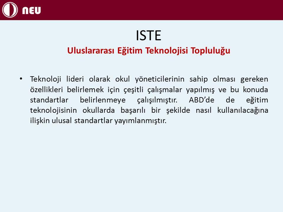 ISTE Uluslararası Eğitim Teknolojisi Topluluğu