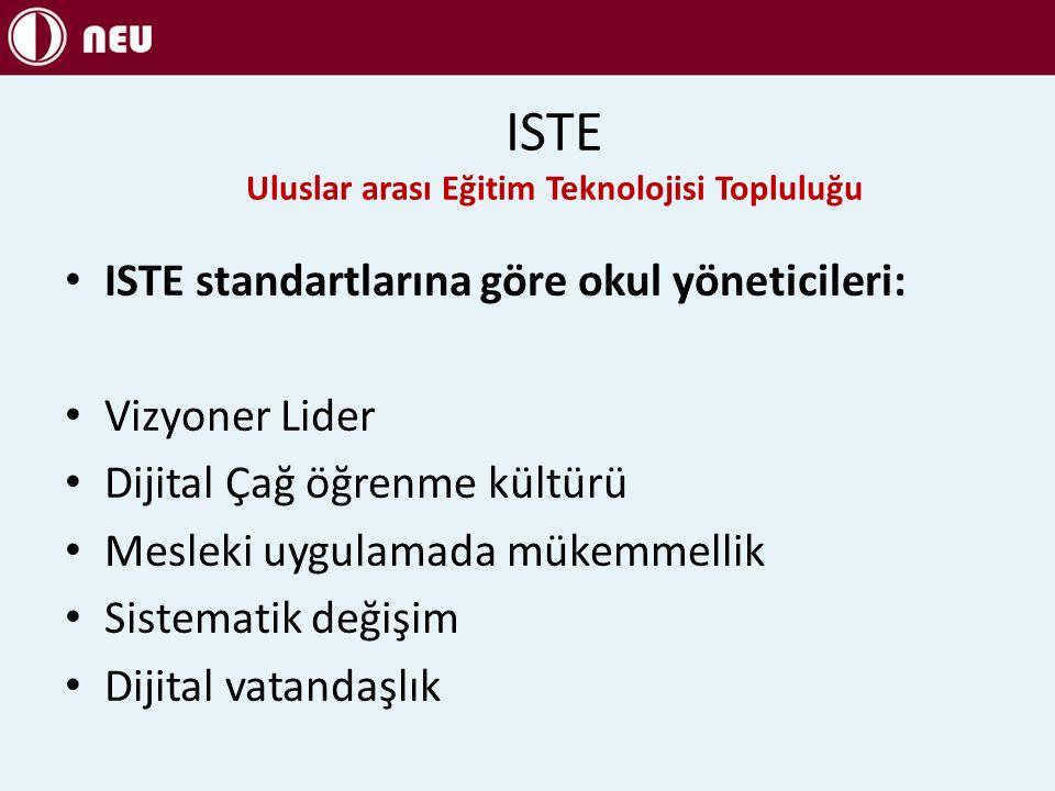 ISTE Uluslar arası Eğitim Teknolojisi Topluluğu
