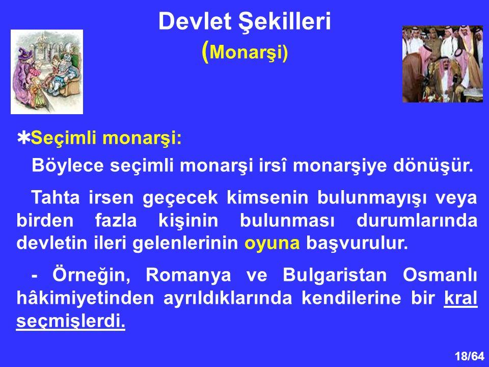 Devlet Şekilleri (Monarşi)