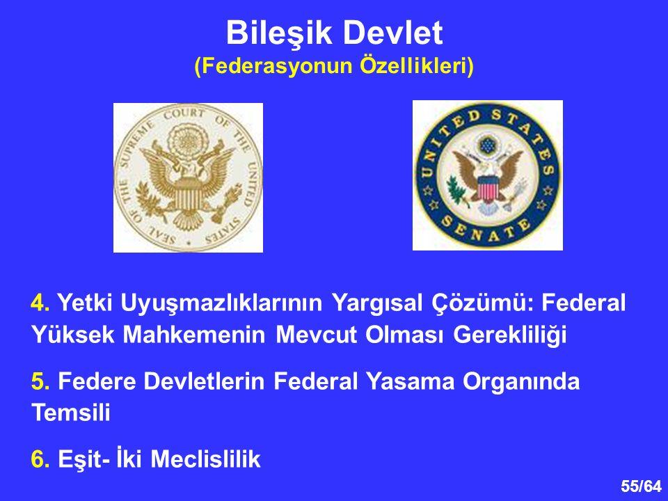 Bileşik Devlet (Federasyonun Özellikleri)