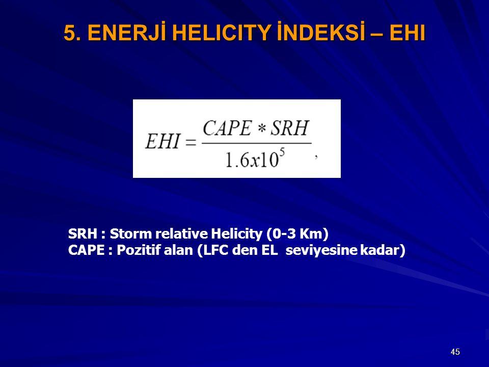 5. ENERJİ HELICITY İNDEKSİ – EHI
