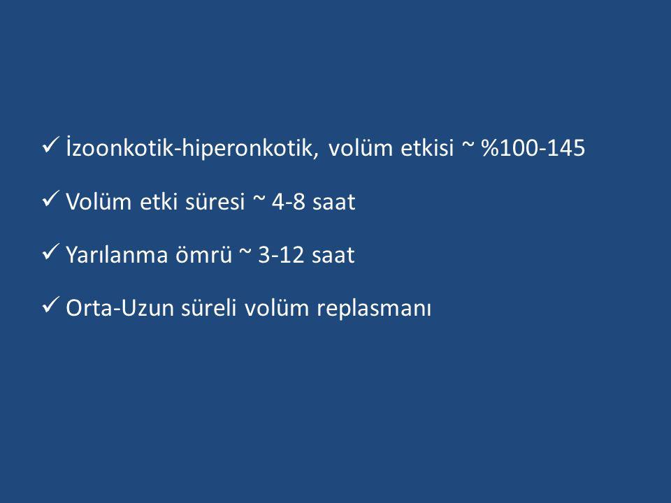 İzoonkotik-hiperonkotik, volüm etkisi ~ %100-145