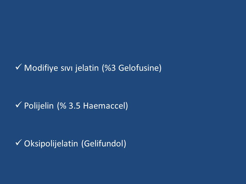 Modifiye sıvı jelatin (%3 Gelofusine)