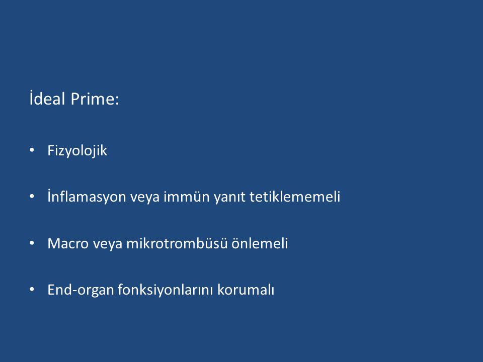 İdeal Prime: Fizyolojik İnflamasyon veya immün yanıt tetiklememeli