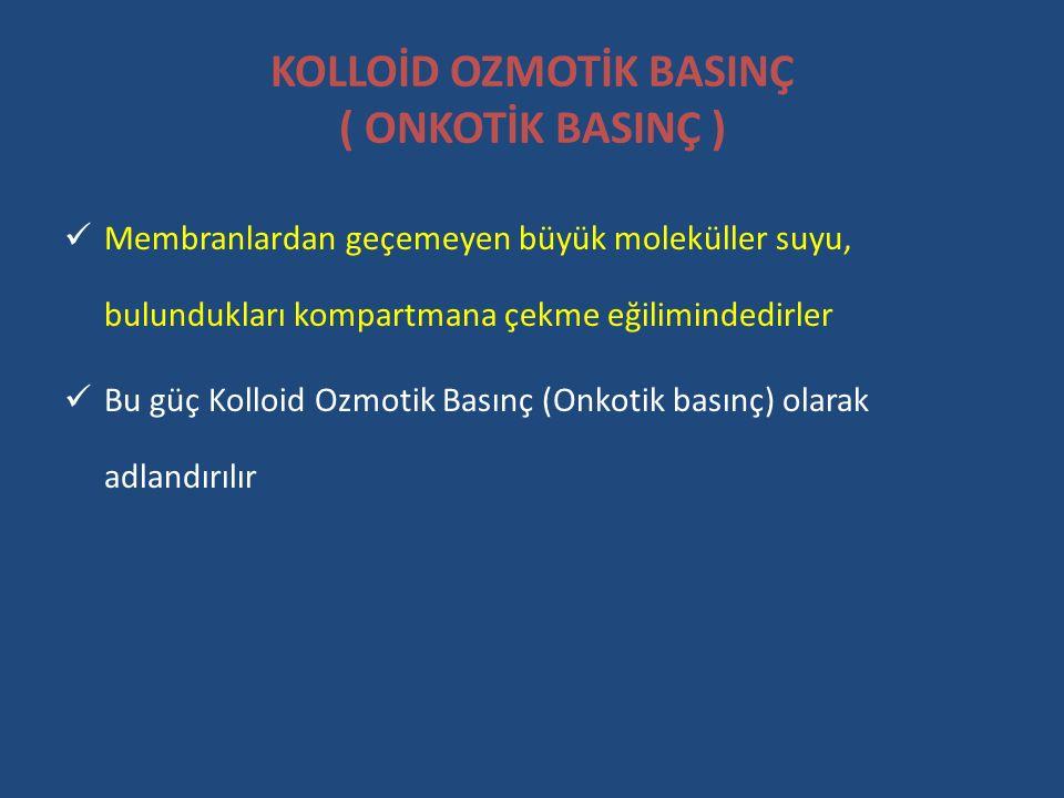 KOLLOİD OZMOTİK BASINÇ ( ONKOTİK BASINÇ )