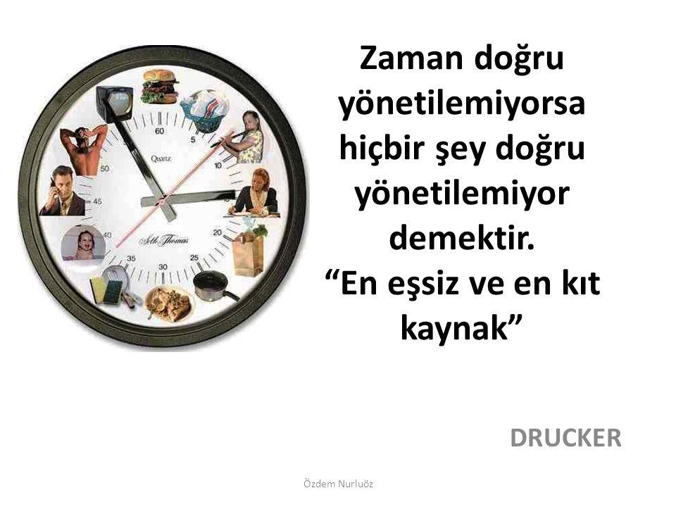 Zaman doğru yönetilemiyorsa hiçbir şey doğru yönetilemiyor demektir