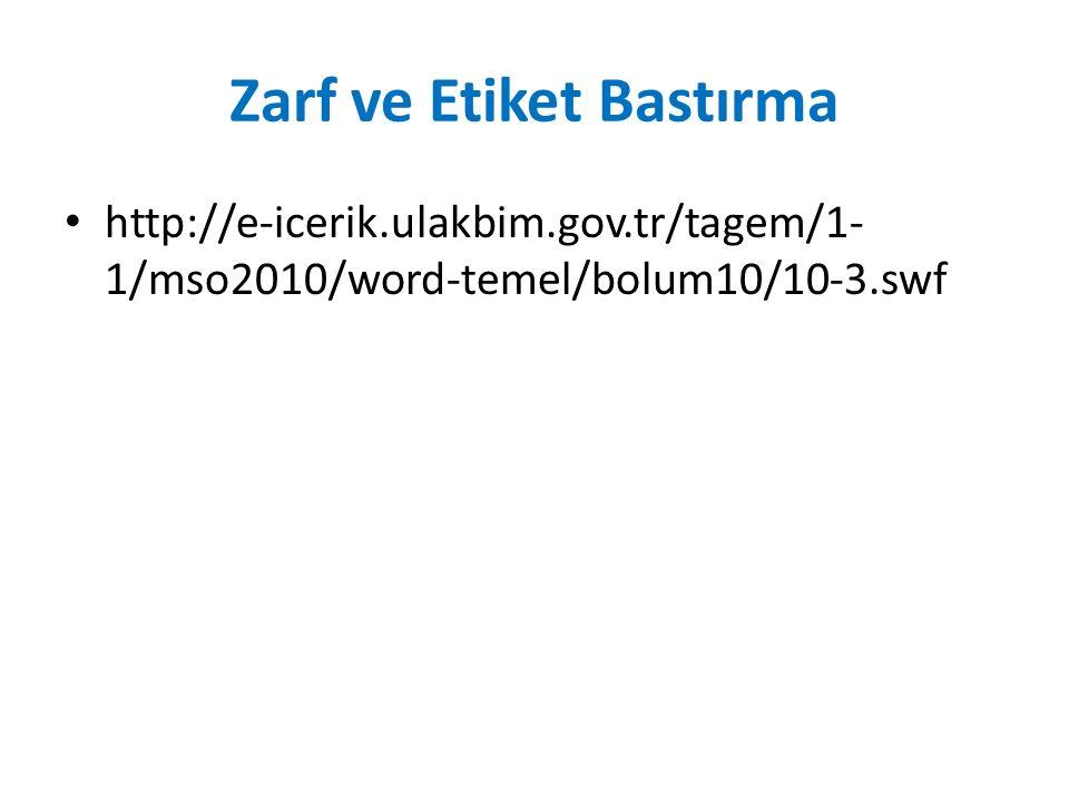 Zarf ve Etiket Bastırma