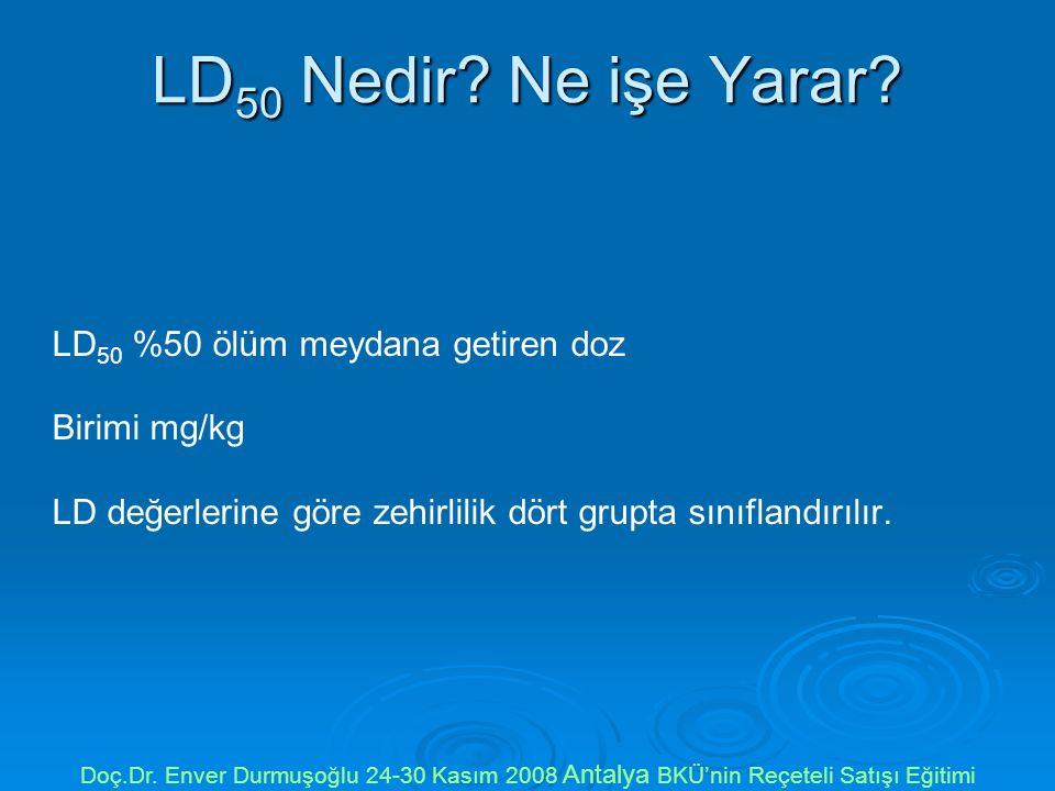 LD50 Nedir Ne işe Yarar LD50 %50 ölüm meydana getiren doz