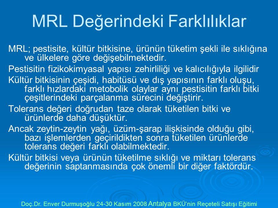 MRL Değerindeki Farklılıklar