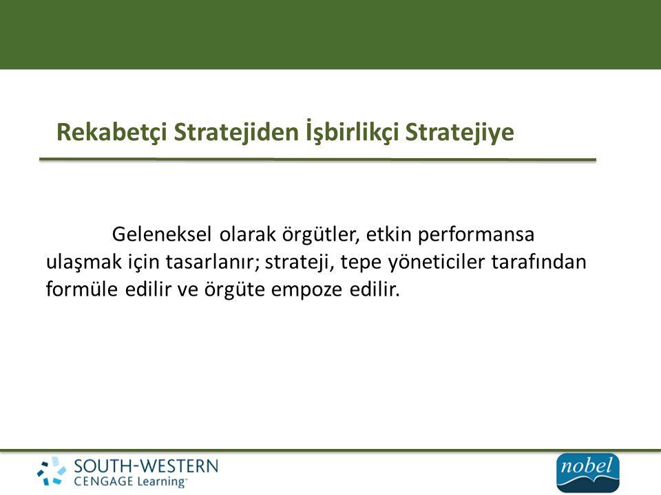 Rekabetçi Stratejiden İşbirlikçi Stratejiye