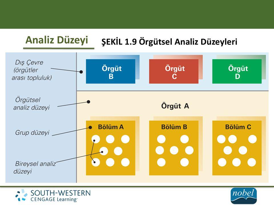 ŞEKİL 1.9 Örgütsel Analiz Düzeyleri