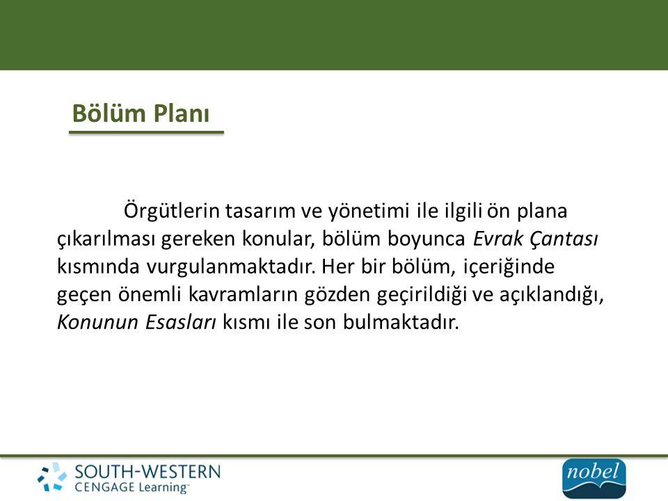 Bölüm Planı