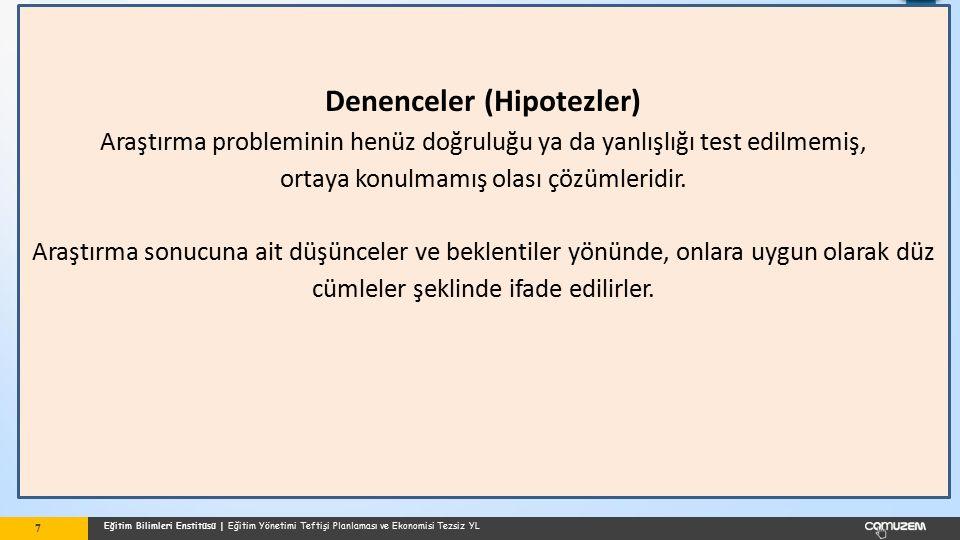 Denenceler (Hipotezler)