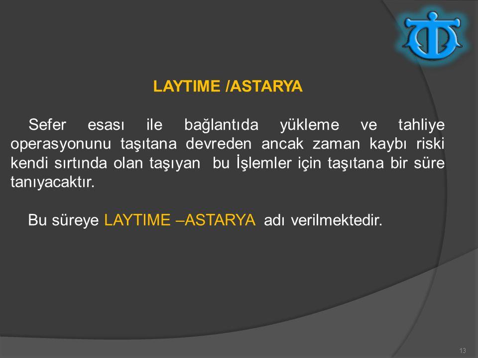 LAYTIME /ASTARYA