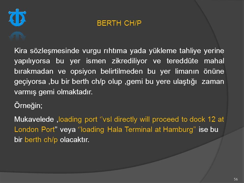 BERTH CH/P
