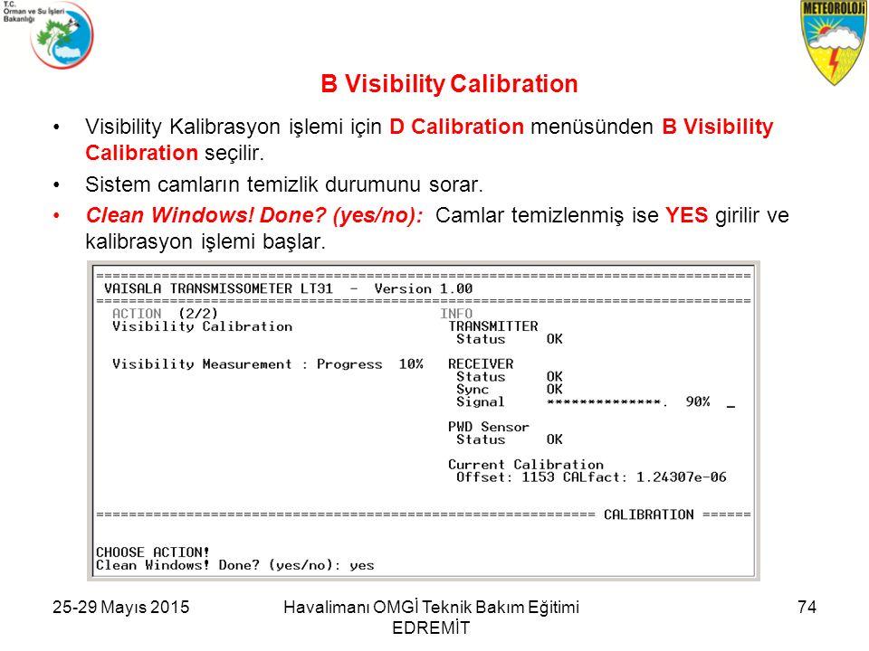 B Visibility Calibration