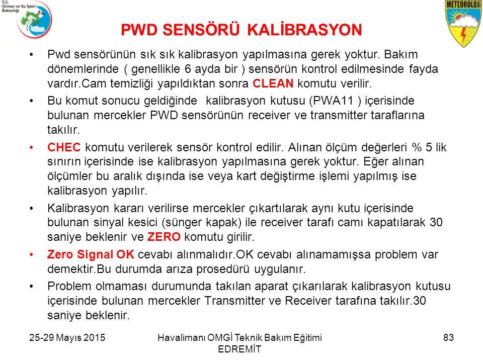 PWD SENSÖRÜ KALİBRASYON