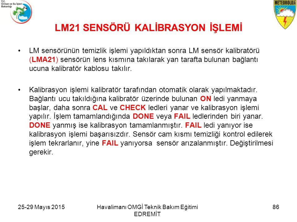 LM21 SENSÖRÜ KALİBRASYON İŞLEMİ