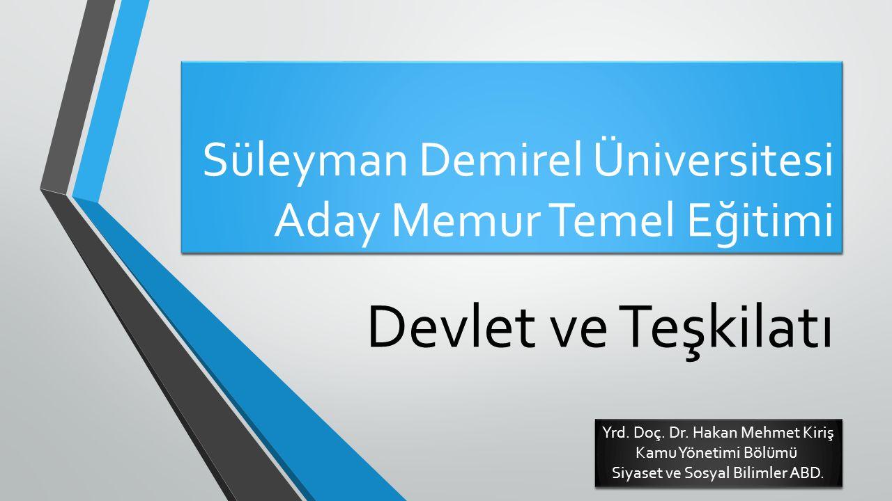 Süleyman Demirel Üniversitesi Aday Memur Temel Eğitimi