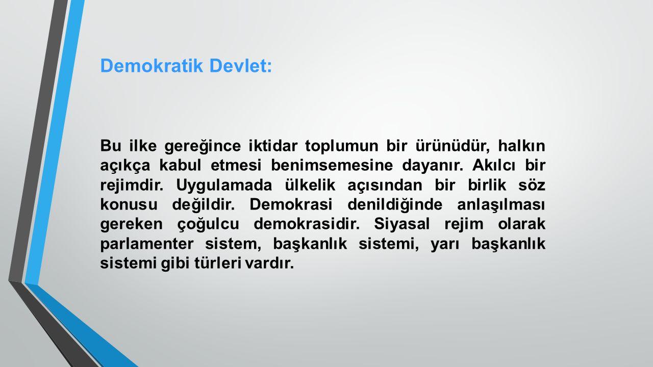 Demokratik Devlet:
