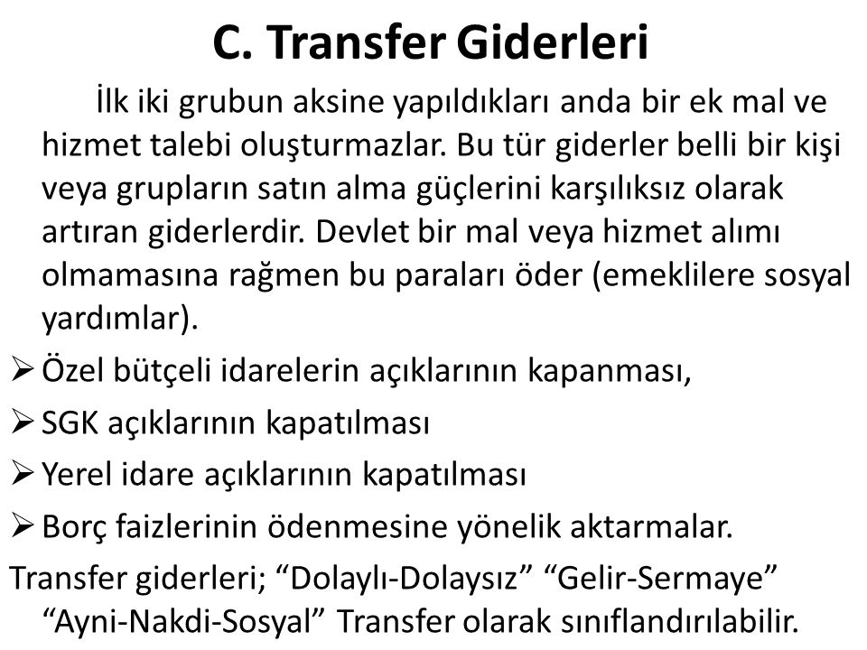 C. Transfer Giderleri