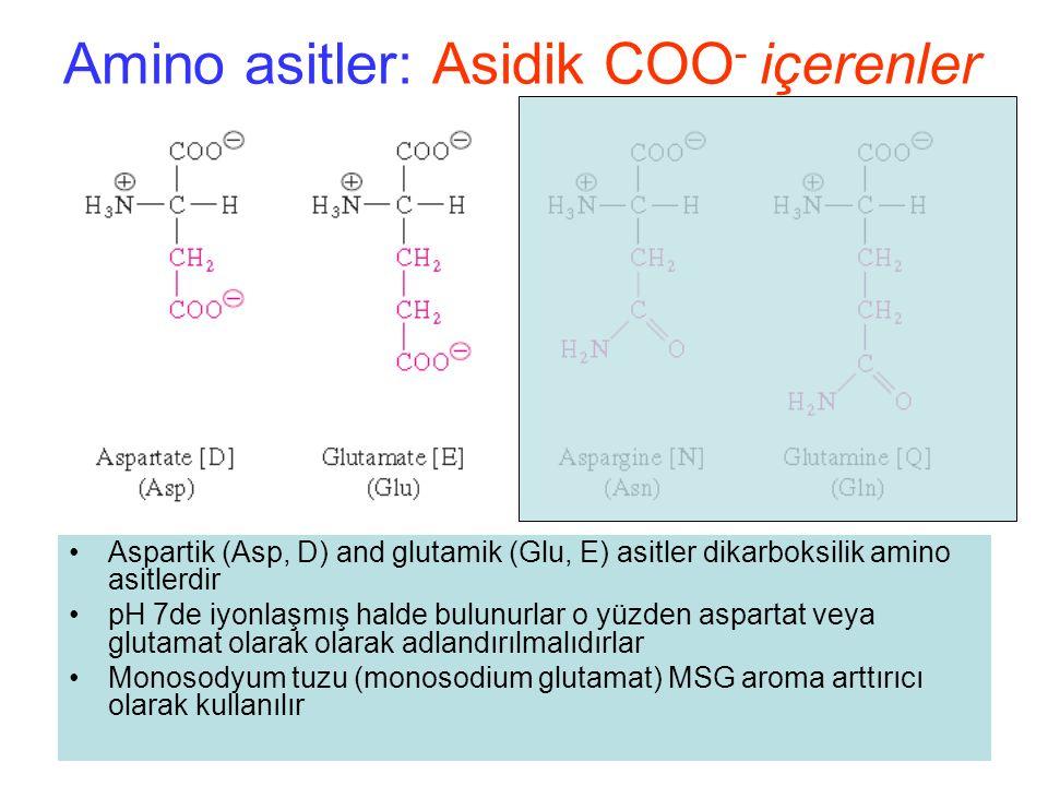 Amino asitler: Asidik COO- içerenler